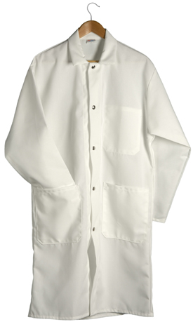 3 Pocket Coat With Large Snaps White Sunstarr Apparel