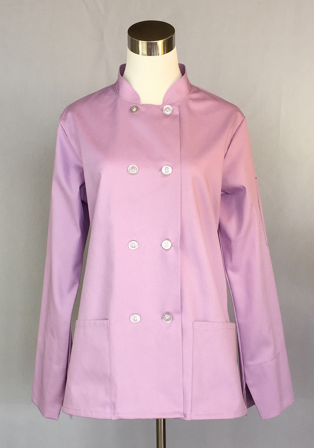 Traditional Chef Coat For Women A Line With 2 Hip Pockets