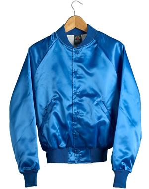 Satin Baseball Jacket (Royal Blue) Sunstarr Apparel