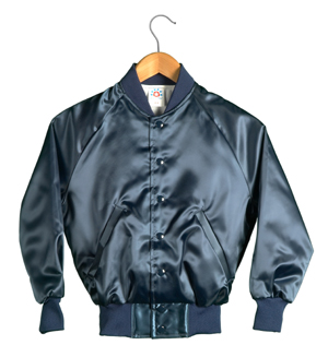 Kid Size Satin Baseball Jacket (Navy)