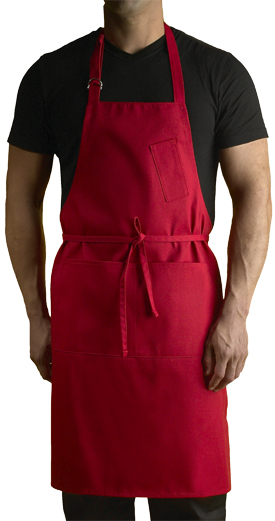 Large Premium Bib Apron (Red)