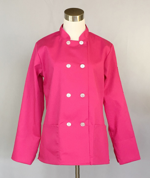 Women's Traditional Chef Jacket (Hot Pink)