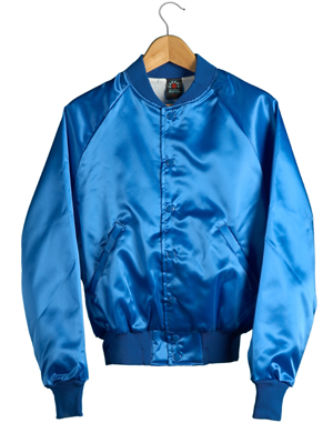 Satin Baseball Jacket (Royal Blue)
