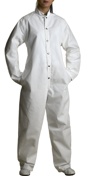 Snap Front Coverall (White)