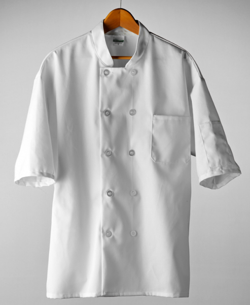 Classic Chef Coat, Short Sleeves (White)